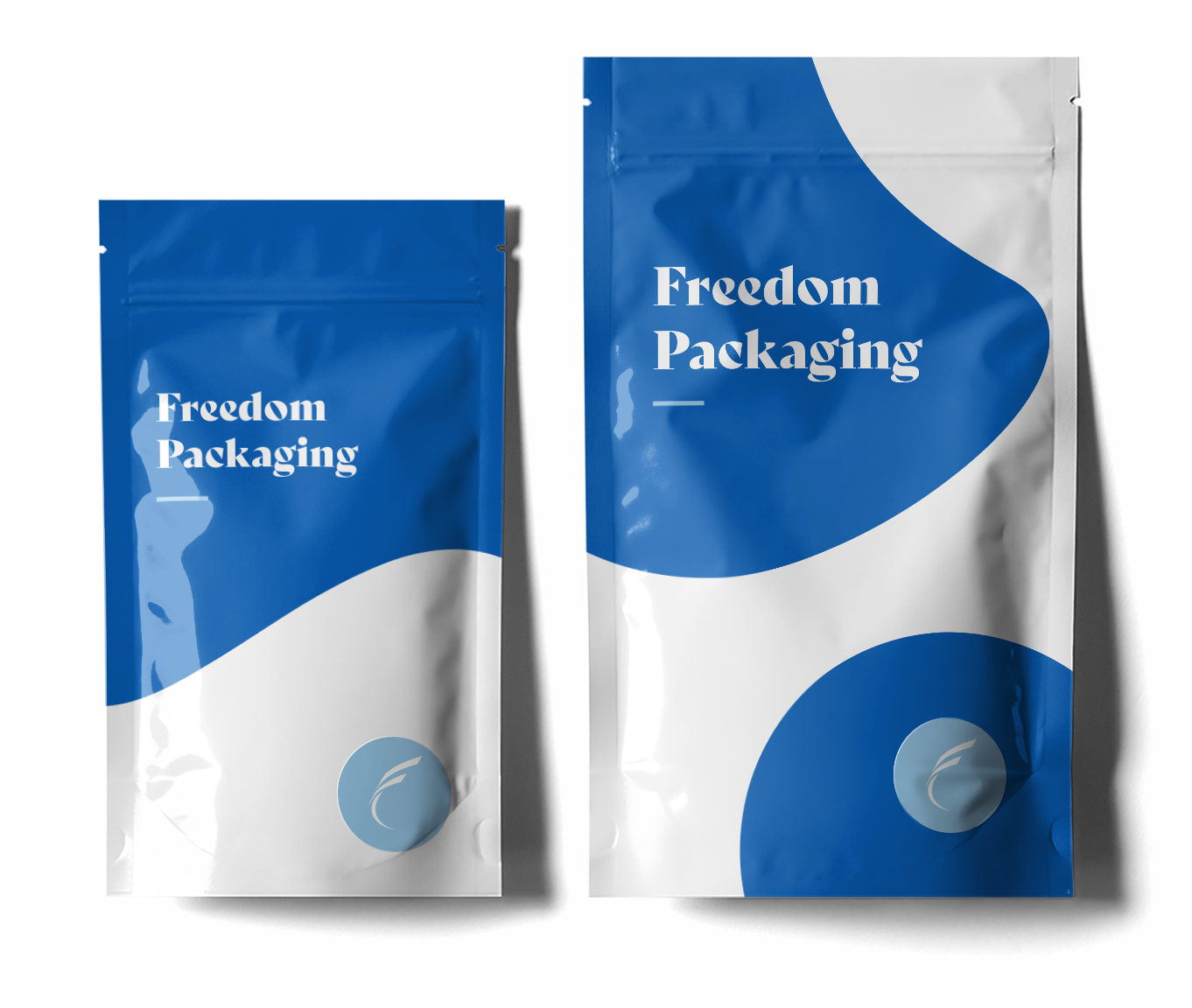 Two standing pouch packages